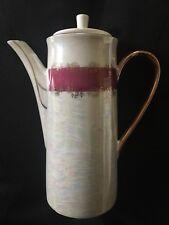 Vintage 1970 Lustreware Victorian Teapot Courting Couple Japan porcelain pottery