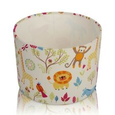 Childrens Nursery Jungle Boogie Bright Zoo Animals, Ceiling,Table Lamp Shade