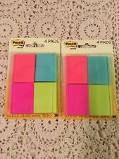 Lot Of 2 Post It Notes1 12in X 2inassorted Colorstotal 400 Notes