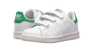 ADIDAS M20607 STAN SMITH CF C Yth`s (M) White/White/Green Leather Lifestyle Shoe