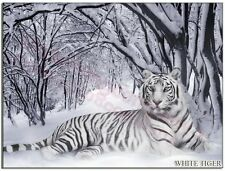 Blanco Tigre en la nieve Camiseta - HOMBRE MUJER NIÑO SUÉTER S M L XL 2xl 3xl