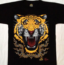 "THAI Tiger tee shirt 2 sided print  LARGE 42""-44""  TEE  MD044"