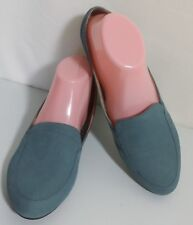 Naturalizer N5 Blue Suede Loafers Slip On Shoes Slides Womens Size 9.5