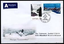 Weihnachten. FDC-Brief nach BRD. Lettland 2014