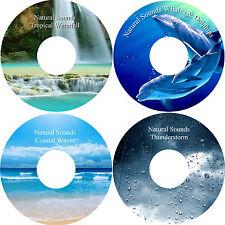 Natural Sounds 4 CD Relaxation Stress Relief Deep Sleep Healing Calming Nature