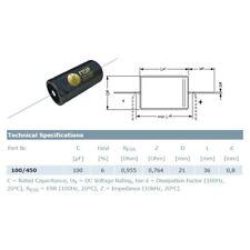 0,47uf//630v Condensatore Poliestere Assiale 10/% Mallory 150
