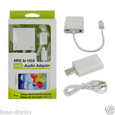 Micro USB MHL to VGA Audio Cable adapter for Samsung Galaxy S2 S3 S4 For HTC LG