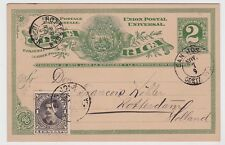 Costa Rica Uprated Postal Card Bernardo Soto 1890 JBP