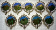 Grandfather Mountain NC Highland Games Annual pins 1989-1997 Scotland Clans lot