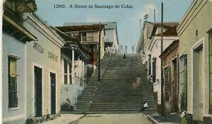 Santiago de Cuba - Antigua Corvacho Sign on the left postcard