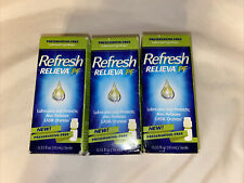 3 Bottles Refresh Relieva Pf Lubricates and Protects 0.33 fl oz ea - Exp 02/2022