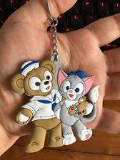 cute couple bear hug silica gel key chain key chains ornament cartoon pendant