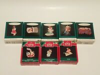 Lot of 8 Vintage Hallmark Keepsake Christmas Ornaments Miniatures w Boxes