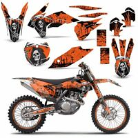 Dirt Bike Graphics Decals + #Plates For KTM SX,SXF,XC,EXC,SM 2013-2016 REAP ORNG