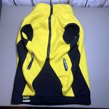 Petco Dog yellow Blue Vest Reversible Size Large Dickens Fleece Zipper