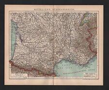 Carte MAP 1897: moyen et le sud de la France échelle: 1: 2.780 000