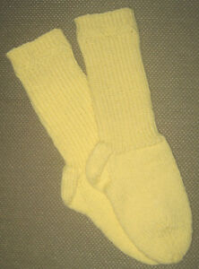 NEW Warm and Soft Hand Knit Socks (8.5 inches length)