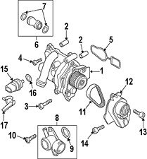 VOLKSWAGENAUDI N91068001 GENUINE OEM THERMOSTAT UNIT BOLT