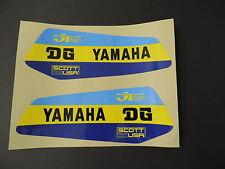 1979  Yamaha YZ 250 400 DG Gas Tank Decal Set. AHRMA VINTAGE MOTOCROSS