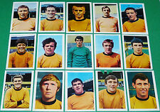 FKS AGEDUCATIFS PANINI FOOTBALL ENGLAND 1968-1969 WOLVERHAMPTON WOLVES COMPLETE