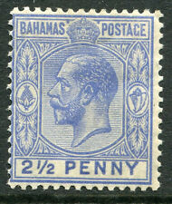BAHAMAS # 51a Fine Light Hinged Issue - PROFILE OF GEORGE V - S5988