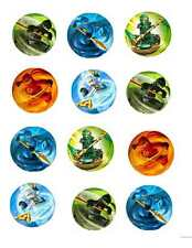 Lego Ninjago Edible Image Cupcake Toppers (12 per sheet)