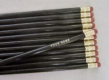 "24 Round ""Black""  Personalized Pencils"