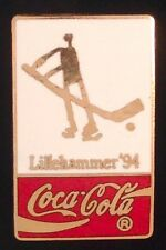 Ice Hockey Olympic Pin~Sponsor~1994 Lillehammer~Coca Cola~Coke~Cloisonne