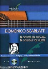DOMENICO SCARLATTI - 14 SONATE PER CHITARRA + CD spartiti per chitarra classica