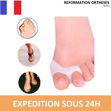 2X Orthese Hallux Valgus 2 DOIGTS Silicone oignons déformation pieds orteils