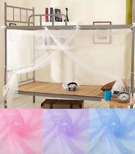 Canopy White Four Corner Post Student Canopy Bed Mosquito Net Polyester Fiber