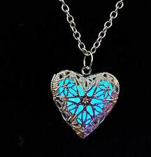 New Pretty Heart Fairy Locket Glow In The Dark Pendant Necklace Magic