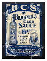 Historic Bracknell's Club Sauce, 1900s Advertising Postcard