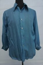 Vintage 70s Grants Now Look Never Iron Disco Club Rockabilly Dress Shirt M L