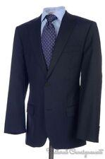 HUGO BOSS SELECTION Recent Blue Striped 100% Wool Jacket Pants SUIT Mens - 40 L