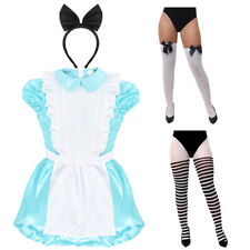 LADIES ALICE DRESS COSTUME TIGHTS FAIRYTALE STORYBOOK BOOK DAY MOVIE FANCY DRESS