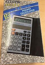 CITIZEN POCKET Calculator LC-531 Solar Rare Model BRAND NEW IN BOX