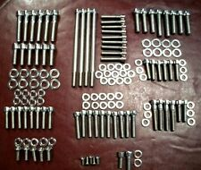 2006-2016 HARLEY DAVIDSON DYNA SHOW POLISHED STAINLESS ENGINE/TRANS BOLT SET