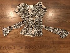 Anthropologie Odille Wrap Top Print 2 Small EEUC