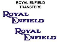 Royal Enfield Tank Transfers Decals Motorcycle Blue Sold as a Pair DROY1