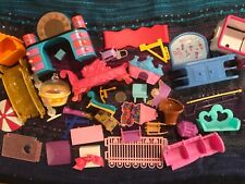 Huge 37 Vintage Doll Furniture Lot Mattel & Other Doll House Stuff #DF2