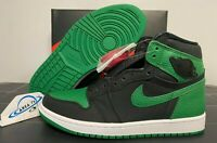 "2020 Nike Air Jordan 1 Retro High OG ""Pine Green 2.0"" Black 555088-030 Size 3-13"