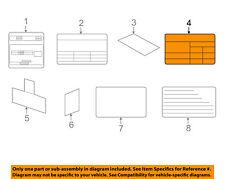 KIA OEM 17-18 Sportage Labels-Tire Pressure Info Label 05203D9400
