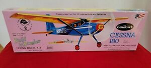 Guillows 601 -Cessna 180 Build By Number Balsa Wood Airplane Model Kit - NEW