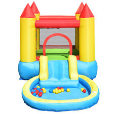 Inflatable Bounce House Kids Slide Jumping Castle Bouncer with Balls Pool & Bag