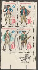 Scott #1565-68 Used Se-tenant Block of 4, Military Uniforms