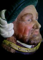 Vintage Legends chalkware King Henry VIII head PERFECT MINT CONDITION England