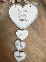 Personalised Home Sweet Home sign heart plaque,gift,new home family first home