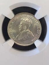 1927 STRAITS SETTLEMENTS 10 CENTS NGC MS65