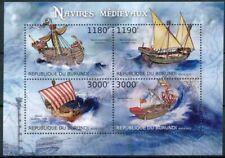 [32637] SUP||**/Mnh || <b>Cote</b> : 19.00eur || - BURUNDI 2012 - Navires médiév